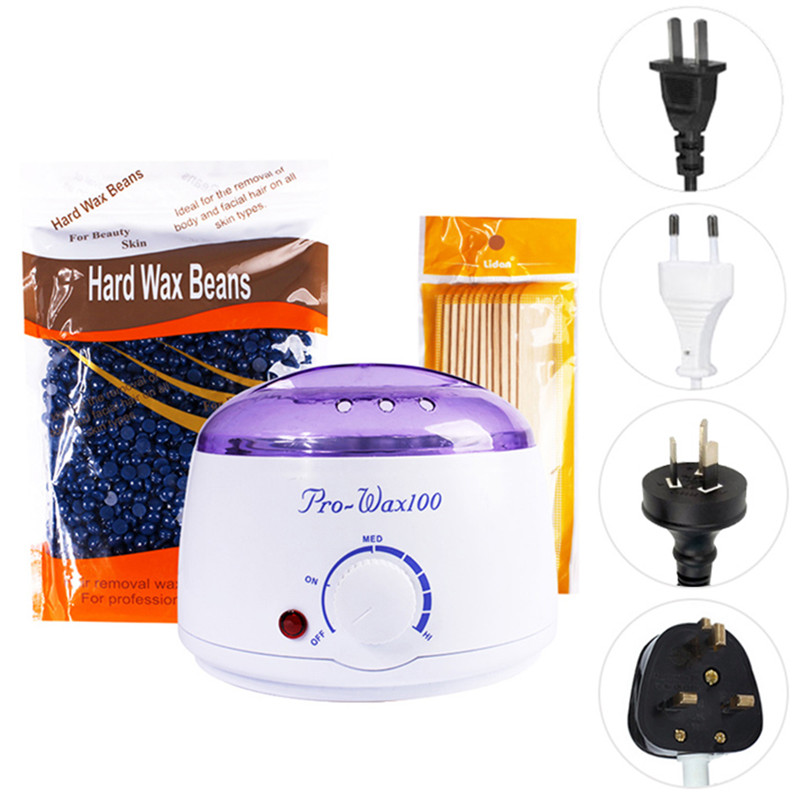 3 in 1 Paraffin Depilatory Wax Machine Mask Warmer Wax Heater Mini Spa Bikini Armpit Leg Hair Removal Stick Hard Wax Beans 300g depilatory wax warmer hard wax beans hair removal black wax machine 250g natural beans for beauty spa epilation