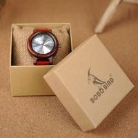 Reloj madera para mujer pulso cuero colores 5