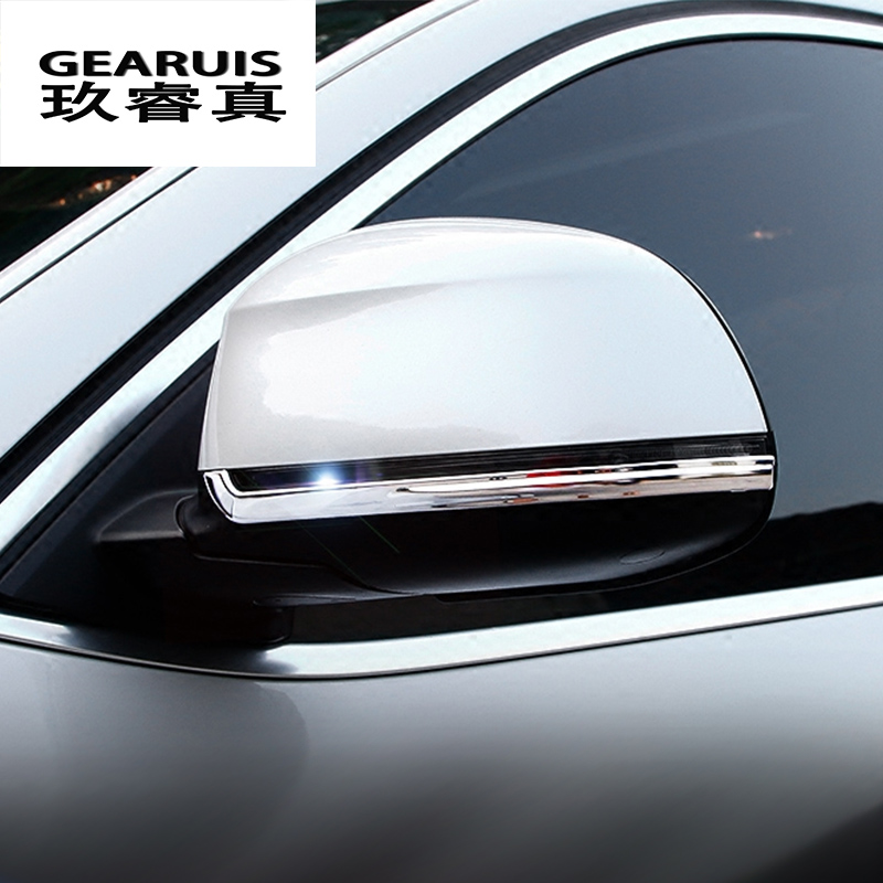 Car styling rearview mirror decoration trims Cover protector gas Stickers for BMW X3 F25 X4 F26 X5 F15 X6 F16 5/7 series f10 f07 цена и фото