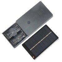 1W 4V 태양 전지 패널 보드 충전 상자 충전기 에너지 충전 전원 공급 장치 상자 2 * AA/AAA 충전식 배터리