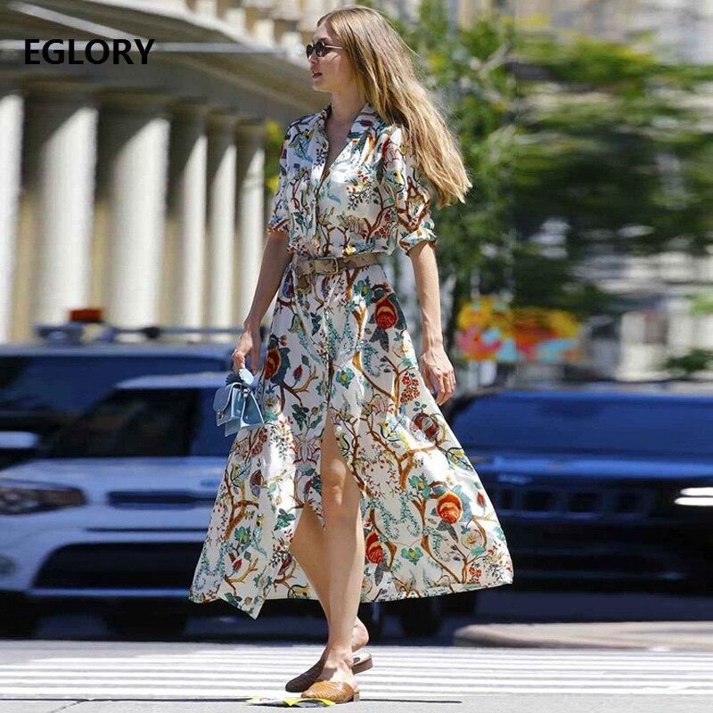 Nouveau Chic femmes mode robe 2018 été automne dame col rabattu taille large droite lâche décontracté Sexy longue chemise robe