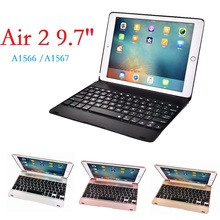 New Coque for iPad Air 2 Case Keyboard A1566 A1567 Wireless Bluetooth Funda Cover for iPad Air 2 Case with Keyboard Cover for ipad 5 ipad 6 high quality ultra thin wireless bluetooth aluminum keyboard case cover for ipad air ipad air 2 gift