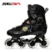 100% Original 2019 SEBA KSJ2 Adult Inline Skates Roller Skating Shoes Rockered Frame Slalom Sliding FSK Patines Adulto