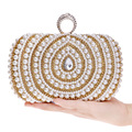 Beading Crystal Diamonds Clutch Bags Clutches Lady Wedding Purse Rhinestones Wedding Handbags Silver/Gold/Black Evening Bag