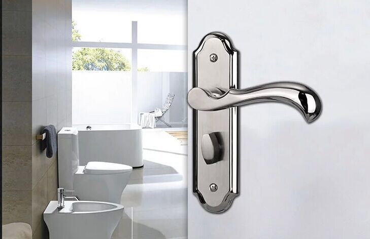 stainless steel door lock home interior living room bedroom bathroom door knobs lock hotel lock free shipping in locks from home improvement on - Bathroom Door Knobs