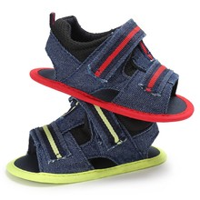 New  Handsome Baby Boys Sandals Summer Kids Infant Toddler Canvas Shoes Newborn Soft Shoes
