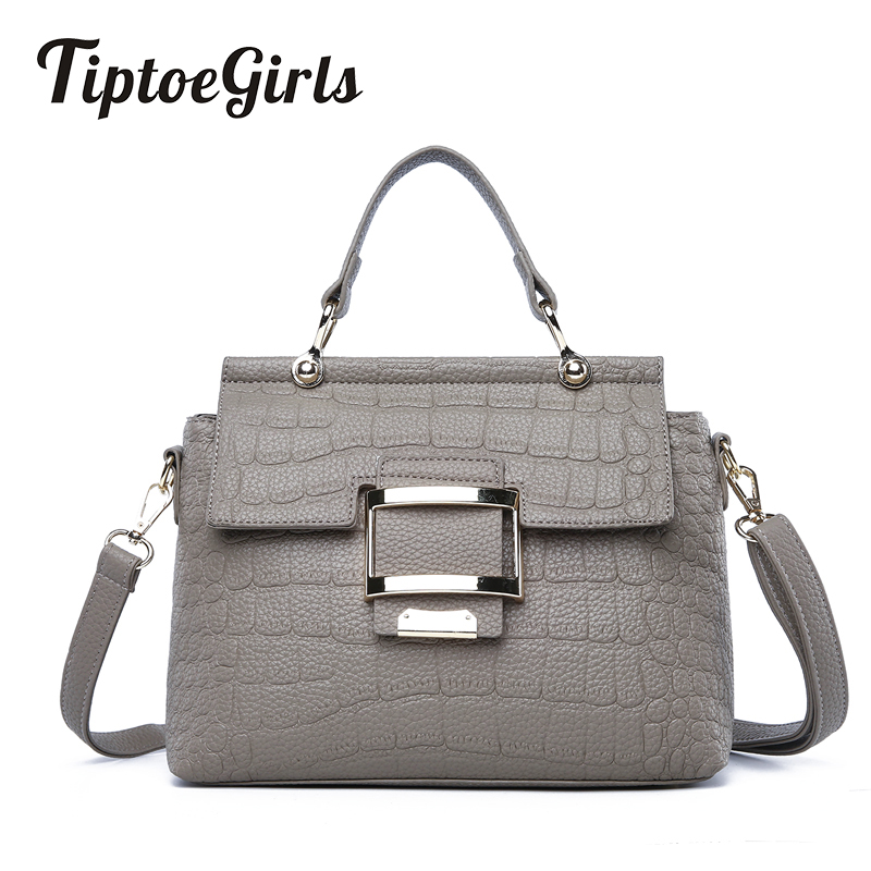 New Spring Simple Crocodile Pattern Bag Female Korean Fashion Wild Small Square Bag Casual Solid Color Shoulder Messenger Bag 2018 new female korean version of the bag with a small square package side buckle shoulder messenger bag packet tide