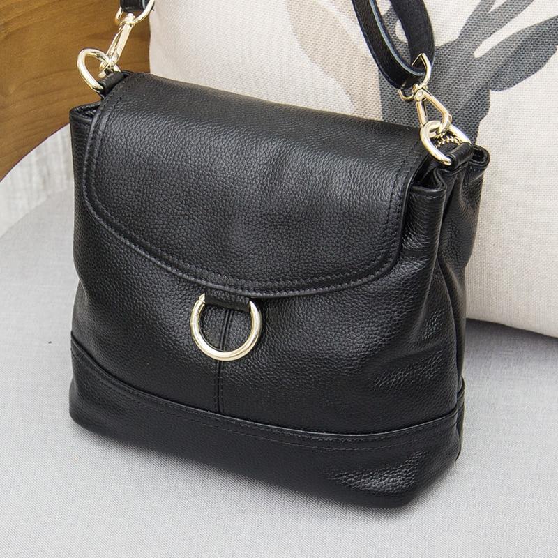Hot sale genuine leather women messenger bag Cowhide one shoulder bag Varied color Optional L094
