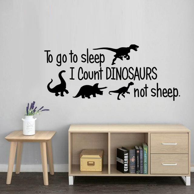 Go To Sleep – Dinosaurs Wall Sticker