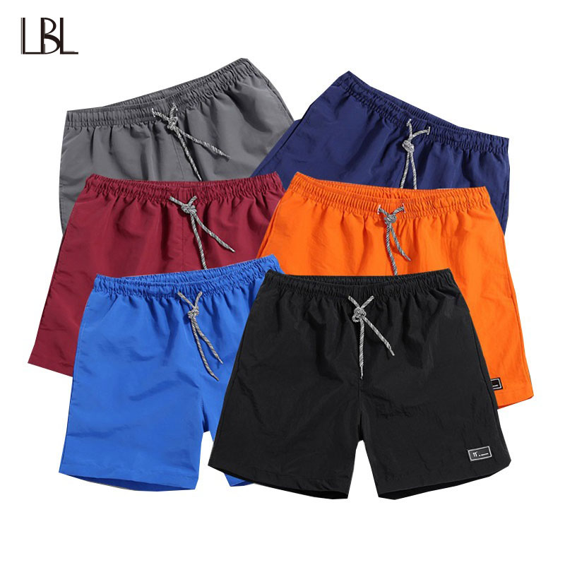 Solid Shorts Men Streetwear Elastic Waist Mens Beach Short Casual Male Trousers Summer Fitness Brand Clothing homme Big Size 5XL