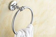 Полированный хром латунь ванная стена навесное полотенце кольцо держатель ванная аксессуары ванна фурнитура ванная фурнитура mba805