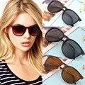 Verão estilo vintage óculos de sol das mulheres designer de marca óculos de sol lunette de soleil óculos cat eye rodada óculos armação de metal óculos de sol