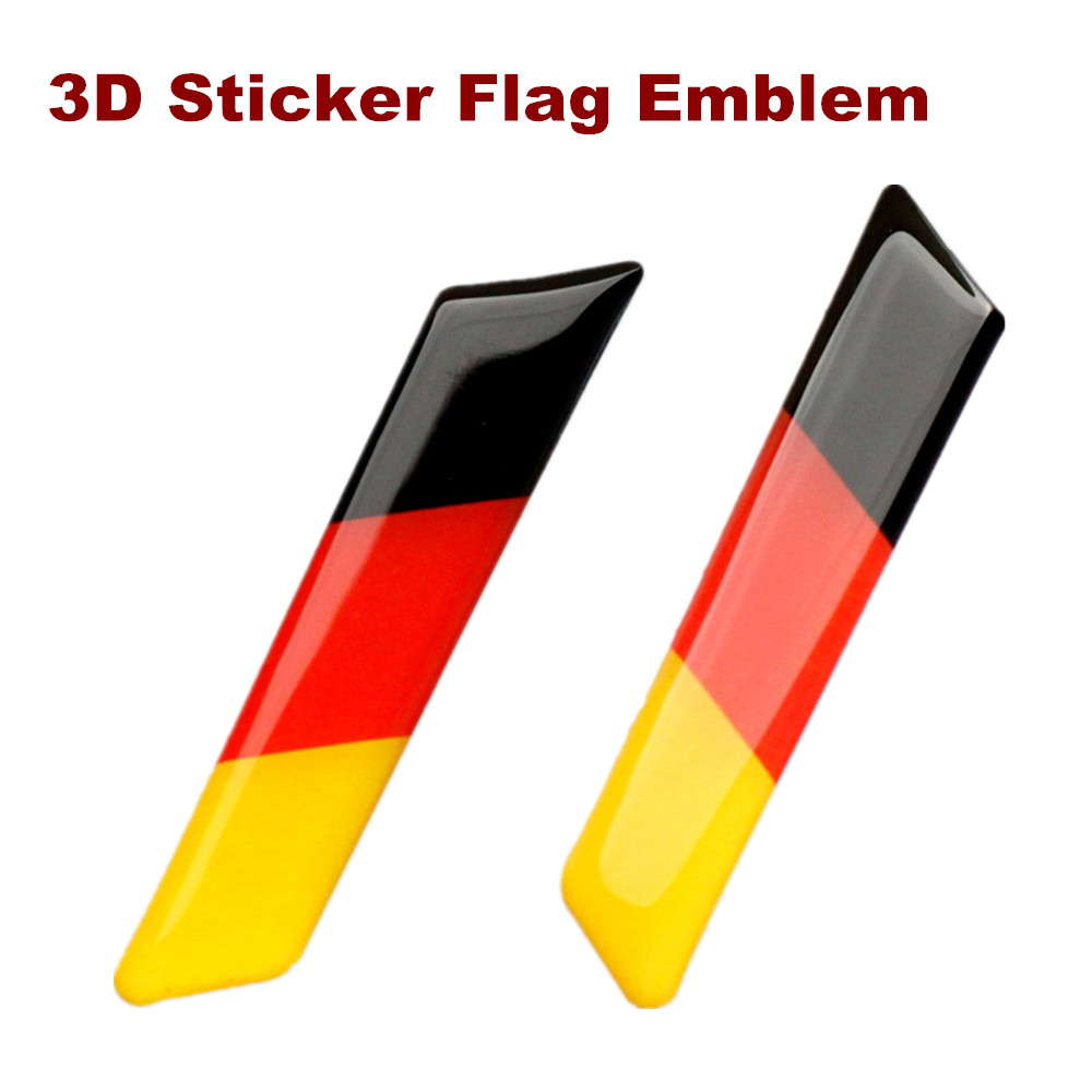 2Pcs Car Styling 3D <font><b>Sticker</b></font> Lift Wrench Handle Seat Insert Trim Cover For Volkswagen <font><b>VW</b></font> <font><b>Golf</b></font> 5 6 MK5 MK6 GTI Germany Flag Emblem image