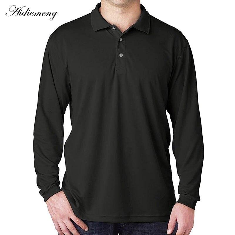 Long Sleeve   Polo   Shirts Men 2018 Autumn Band Men   Polo   Shirt Casual Cotton Black Camiseta Masculinas Plus Oversize   Polos   Homme