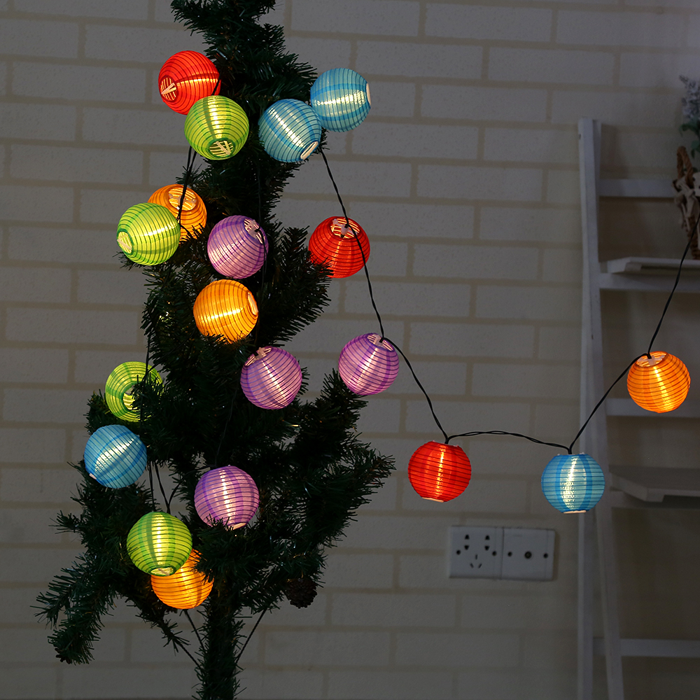 4M Ball Solar LED String Lights 20 LED Solar Lamp Outdoor Lighting Globe Christmas Decorative Light for Party Holiday P20