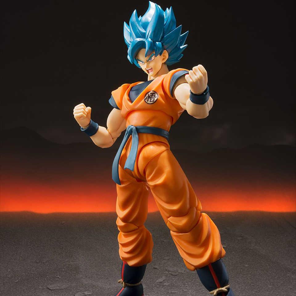 Tronzo original tamashii nações bandai s.h. Figuarts super saiyan deus goku ssj azul dragon ball super broly figura de ação brinquedos