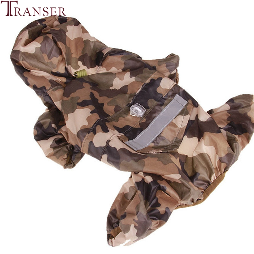 Transer Free Shipping Big Dog Raincoat Camouflage Large Dog Jumpsuit Samoyed Golden Retriever Drop Shipping 80502 ...