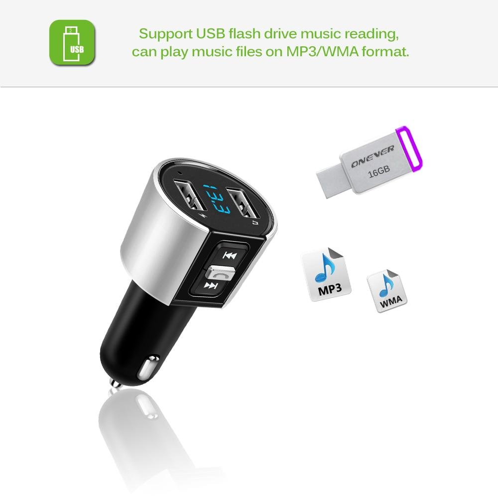 US $15 13 | Vingtank 12/24 V Bluetooth Car Kit Music Player FM Transmitter  Modulator 3 4A Dual USB Car Charger Radio Adapter MP3 Player-in Bluetooth