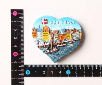 Dänemark berühmte sehenswürdigkeiten Eigenschaften reise kühlschrank aufkleber