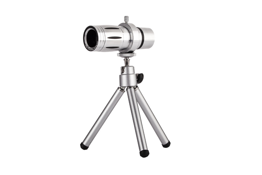Universal 12X Zoom Mobile Phone Telescope Lens 4in1 lens Telephoto External Smartphone Camera Lens for iPhone Sumsung HTC Huawei 19
