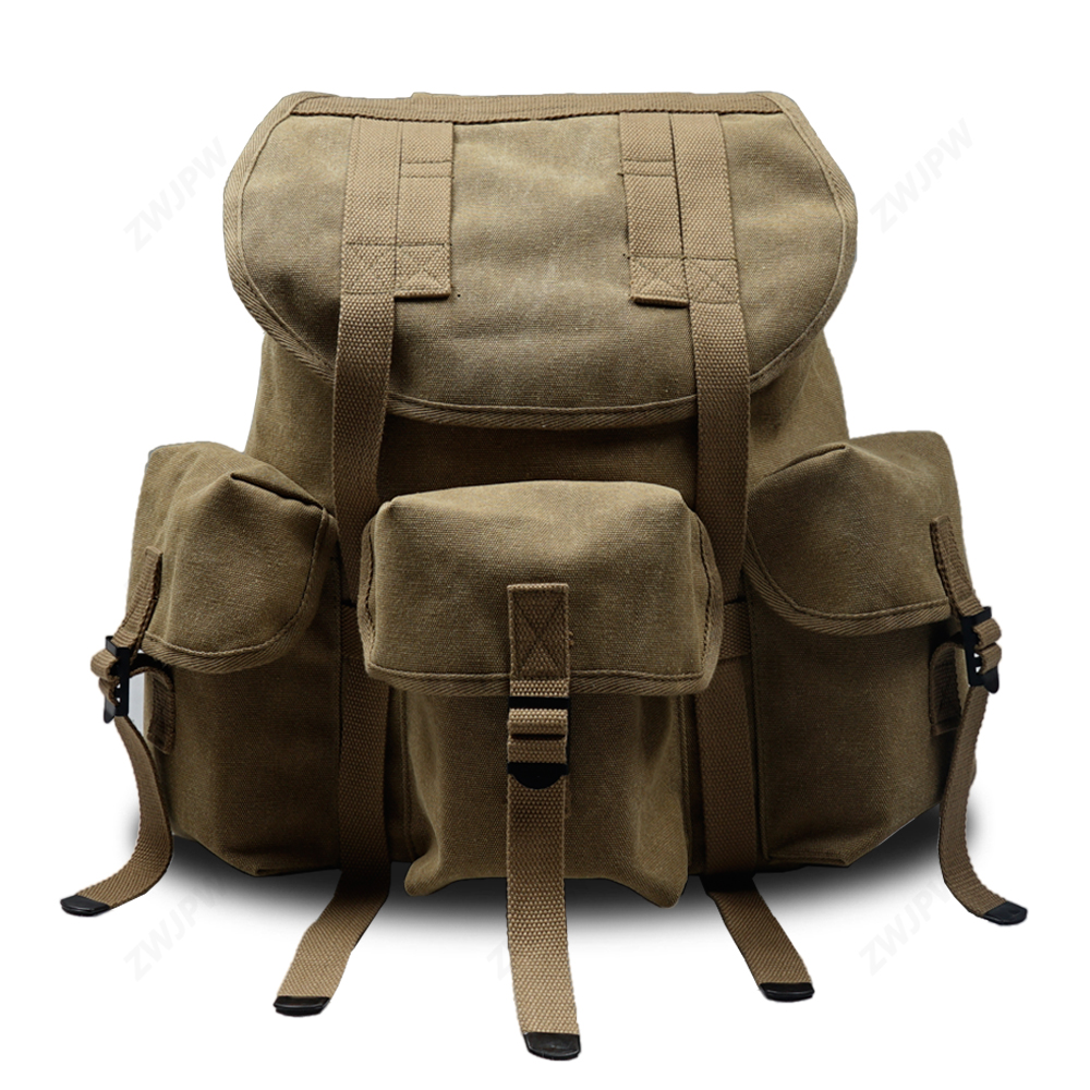 WW2 Us Vietnam War M1961 M14 Alice Backpack Waterproof Canvas Thick Cotton Ribbon