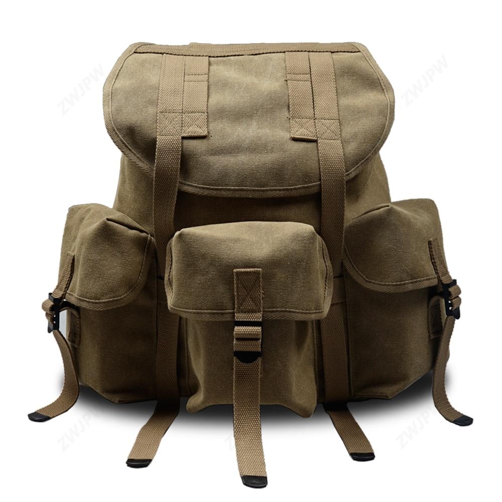 WW2 Us Vietnam War M1961 M14 Alice Backpack Waterproof Canvas Thick Cotton Ribbon