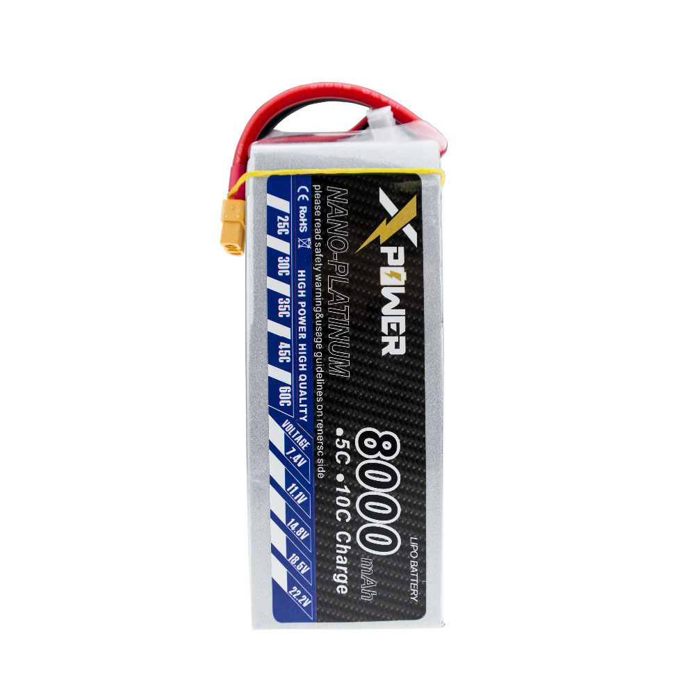 Xpower Lipo battery 14.8v 4s 8000mah 30C max 35C Lithium batteries XT60 plug for RC Helicoptes Airplanes Drone parts VS VOK