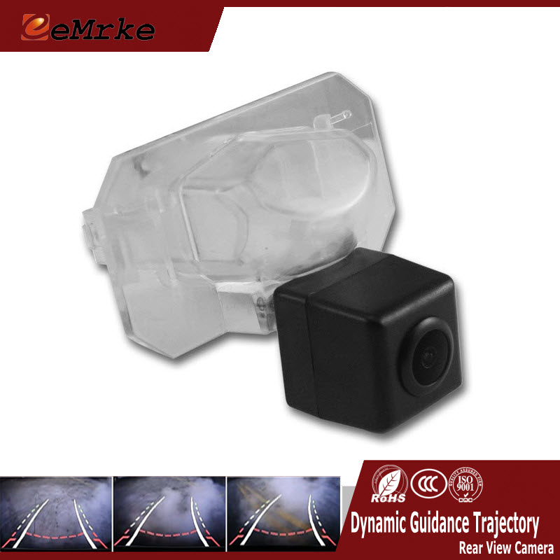 ФОТО eeMrke Rear Car Camera For Honda City Civic Smart Reverse Camera Assistance Dynamic Guidance Trajectory Tracks Camera