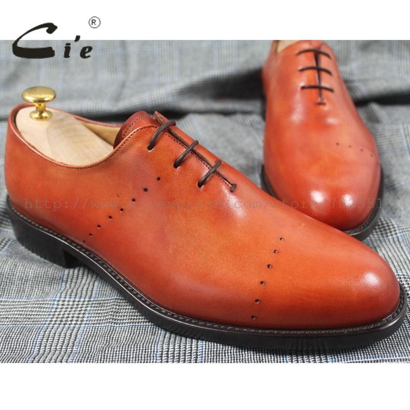 cie Round Toe Bespoke men shoe Customs Handmade 100%Genuine Calf Leather Dress/Casual Men's Oxford Shoe Orange Brown No.OX201 смеситель для мойки коллекция saga 53033 однорычажный хром kaiser кайзер