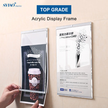 A3 Wall Mount Self-adhesive Magnetic Acrylic Paper Photo Picture Poster Sign Holder Board Frame School Accessories reap 3102 shopia acrylic 297 120mm indoor horizontal wall mount sign holder display info poster elegant and modern door sign