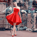 OMY094 Red A-Line Special Occasion Dresses Lovely Satin Cheap Cocktail Dresses 2016