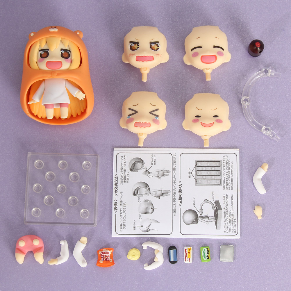 Nendoroid Figure Umaru Anime Figurines Himouto Umaru-chan Doma 10cm/4 New Collection Model Doll japan anime himouto umaru chan wallet doma umaru cosplay coin card women men bifold purse