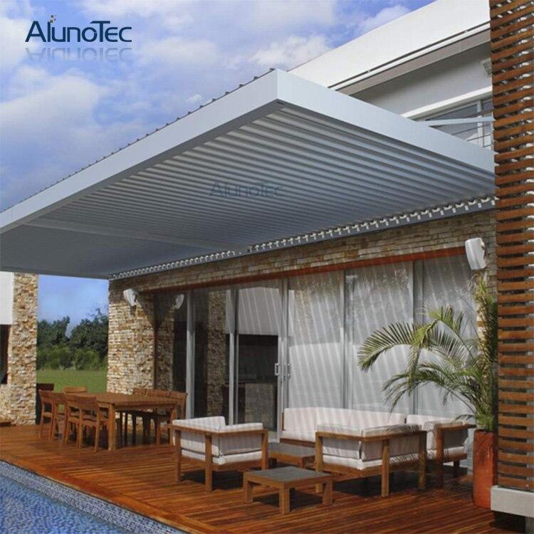 aluno 4 m 6 m personalizado estilo australia patio prgola de aluminio techo de lamas