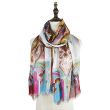 silk scarf thin material print shawls scarf vintage paisley scarves long echarpes stole sarongs beach mujer silk scarf pink paisley print frayed trim scarf