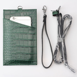 Image 3 - XMESSUN 2020 Genuine Leather Phone Card Holder Crocodile Pattern Cow Leather With Lanyardr Pouch Phone Bag For iPhone  XS Max XR