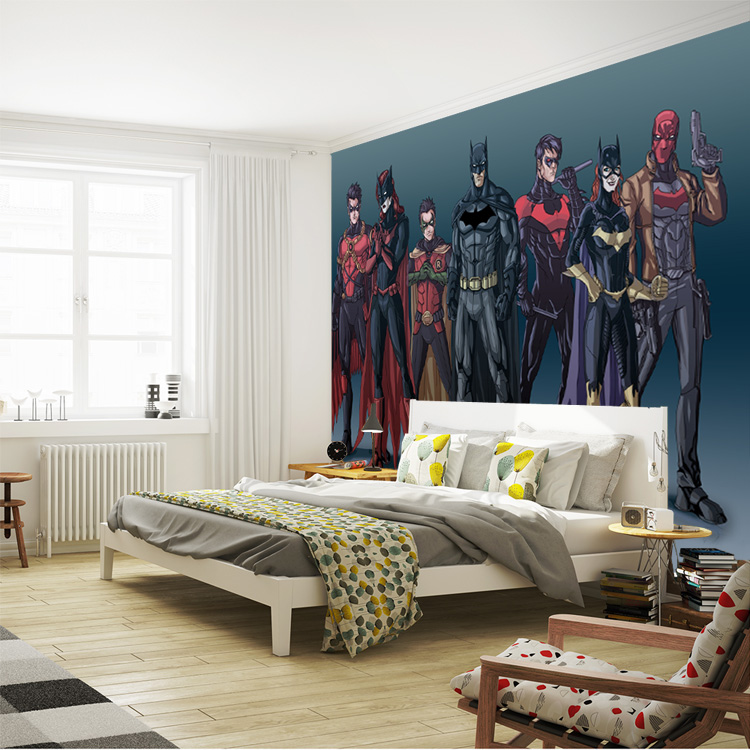 Comics Batman Wallpaper Custom 3D Wall Mural Waterproof Silk photo ...