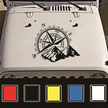 1pcs 3D Mountains Compass Navigation Vehicle Sticker Rose Navigate Mountain 4x4 Offroad Vinyl Decal Car