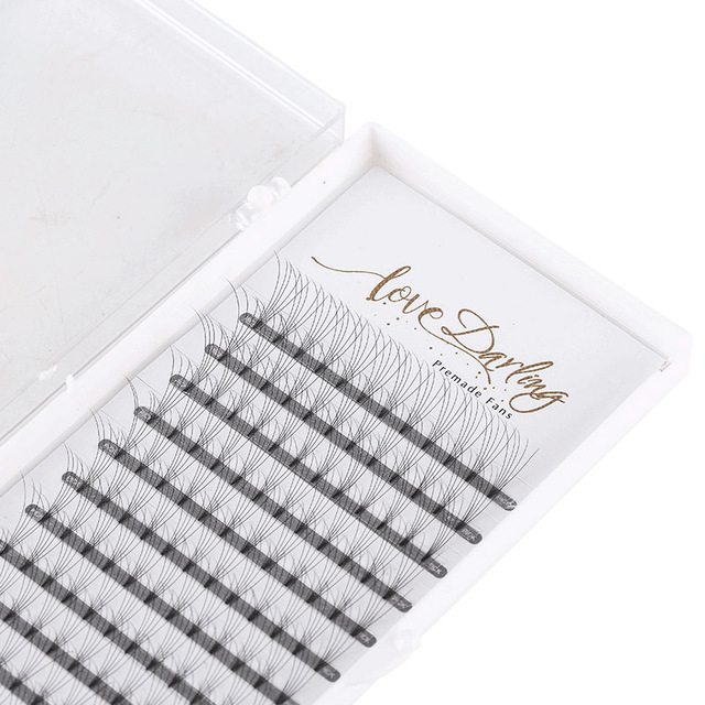 Love Darling  eyelash extensions heat bonded short stem Pre Made Volume fans  Russian Volume Eyelash Extension Supplies 1