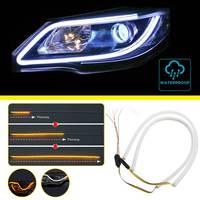 2pcs Lot 60cm Flexible LED Tube Strip DRL Daytime Running Lights Turn Signal Light Angel Eyes