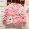 BibiCola cute cartoon baby autumn winter jacket thick Cotton-Padded baby boys girls outerwear infant kids parka toddler coat