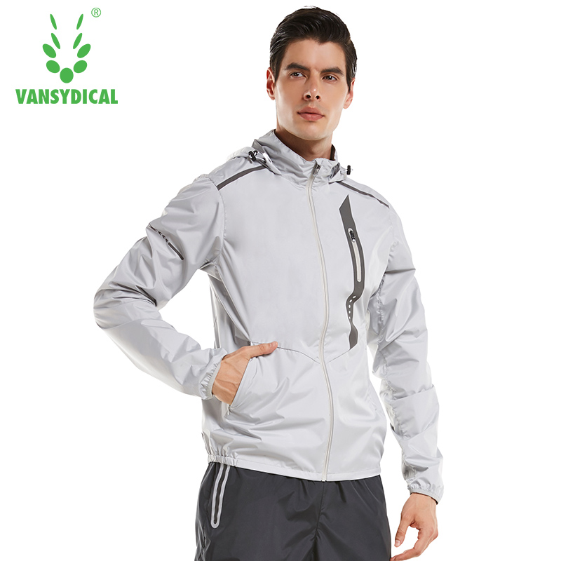 Zipper Hot Sweat Sports Running Jackets Men's Gym Hooded Fitness Tops Lose Weight Slimming Sweating Sportswear