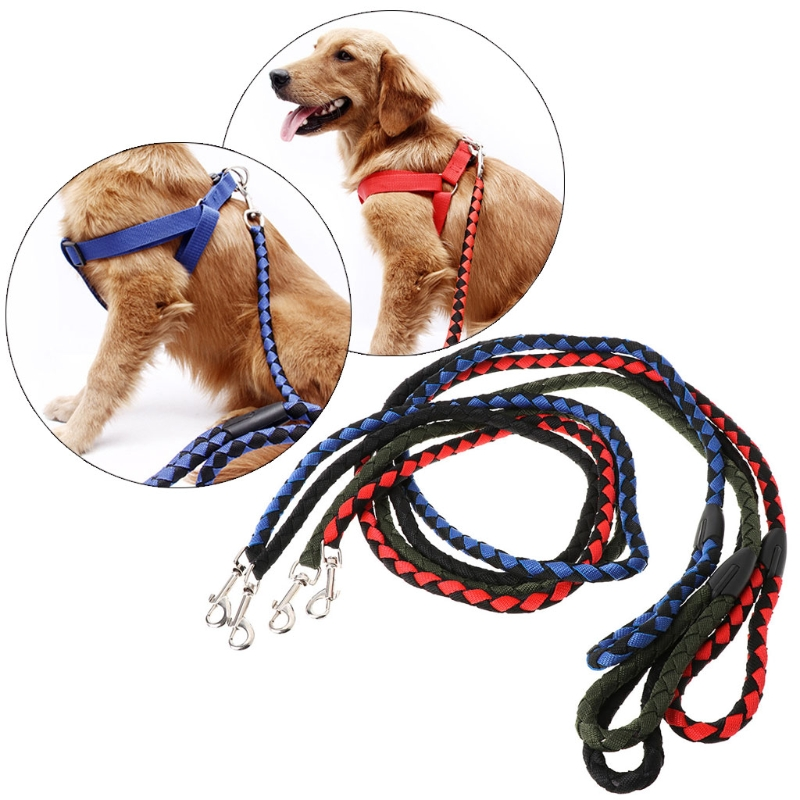 NEW Nylon Pet Dog Leash Lead Outdoor Walking Leash Rope Dog Rope Leash For Harnesss