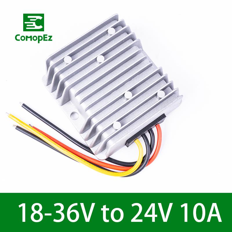 18-36V to 24V 10A DC DC Converter Reducer Regulator Voltage Stabilizer Step-up Down Power Module 240W CE RoHS Certification