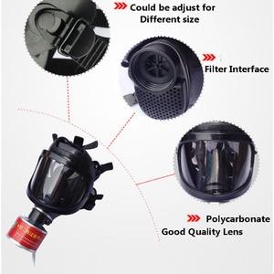 Image 5 - חדש ריסוס Respirator גדול ראיית מלא פנים גז מסכת תעשיית בטיחות עבודה מקצועית הגנת הנשמה מסיכת גז