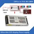 Especial display LED de Comutação Da Fonte De Alimentação Ultra-fino 5 V 40A 200 W