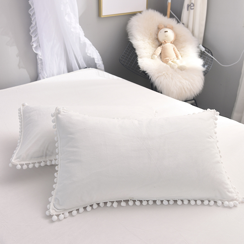 White Pink Gray Brown Girls Winter Thick Flannel Bedding Set Soft Fleece Fabric Duvet Cover Bed Sheet Linen Bed Skirt Pillowcase in Bedding Sets from Home Garden