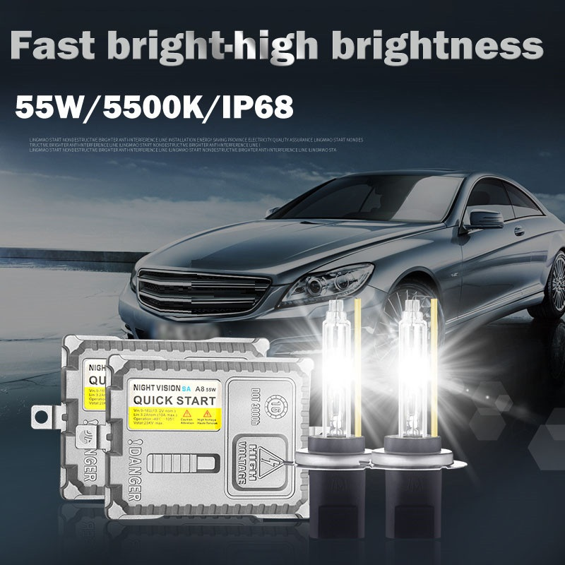 AFAECAR voiture 12 V 55 W 5500 k Hid Conversion rapide phare lumineux antibrouillard H1 H3 H7 H8 H11 9005 9006 hb3 hb4 XENON