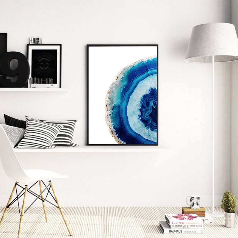 Blue-Agate-Poster-Canvas-Painting-Decorative-Wall-Art-Picture-Watercolor-Agate-Print-Gemstone-Mineral-Art-Wall (1)