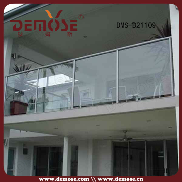 modern handrail exterior glass railing systems stainless steel glass