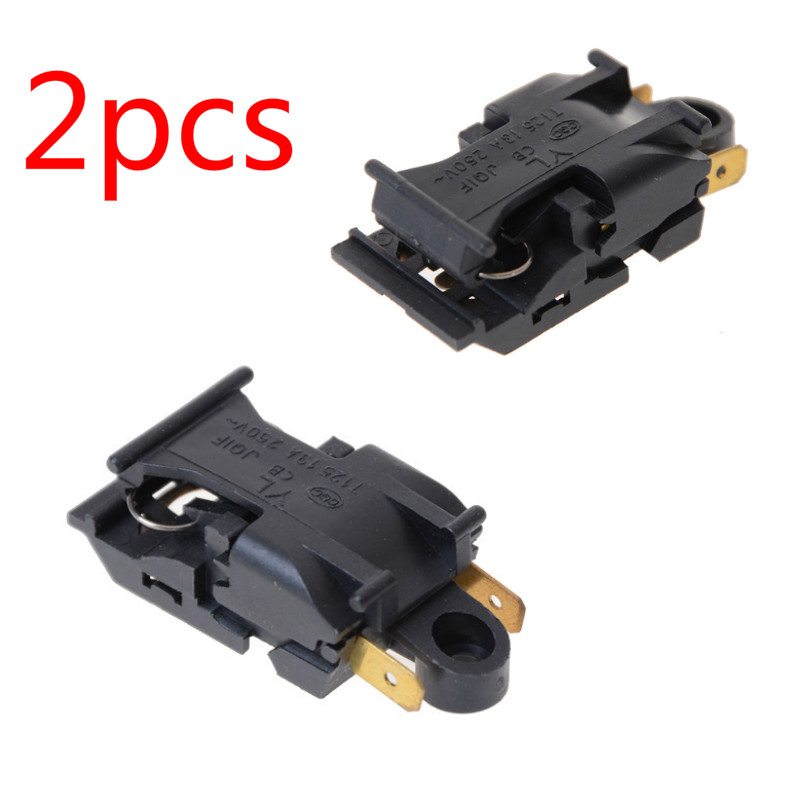 2pcs 13A Electric Kettle Thermostat Switch 2 Pin Terminal Kitchen Appliance Parts